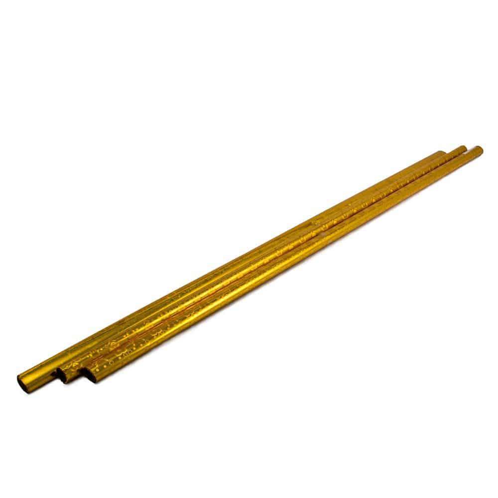 """חבילת 3 יח' צלופן מיטאלי 70 ס""""מ / 1 מ' (מגולגל) 18 מיק - זהב"""