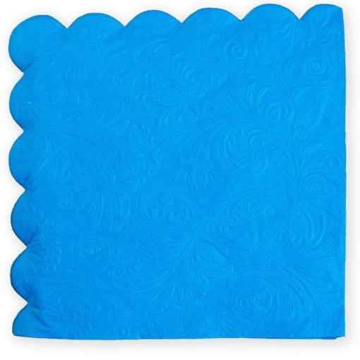חבילת 20 מפיות נייר 33/33 (2/ש)-עלים מובלט-כחול