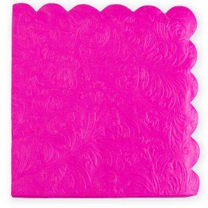 חבילת 20 מפיות נייר 33/33 (2/ש)-עלים מובלט-ורוד