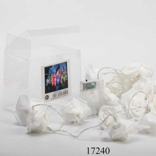 שרשרת לדים א.3 מטר-ורדים-לבן