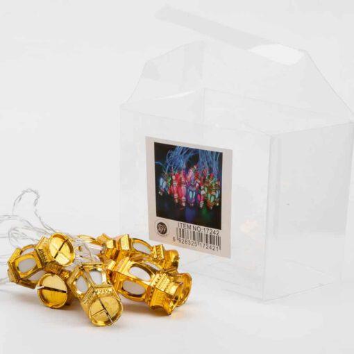 שרשרת לדים א.3 מטר- פנס סיני זהב