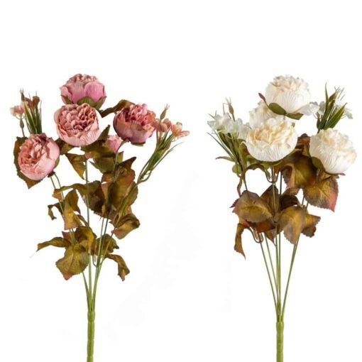 זר ורד פתוח עם תוספות ענתיק 10X מעורב