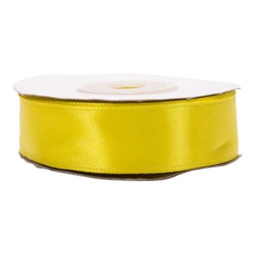 """סרט סאטן 2 ס""""מ 25 יארד-צהוב לימון"""