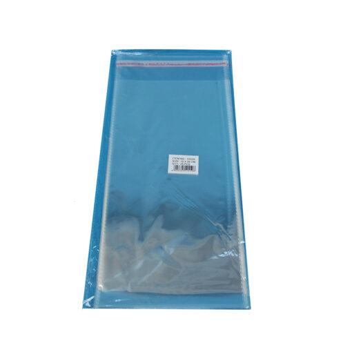 """חבילת 25 שקיות צלופן עם פס דבק - 15/30 ס""""מ"""