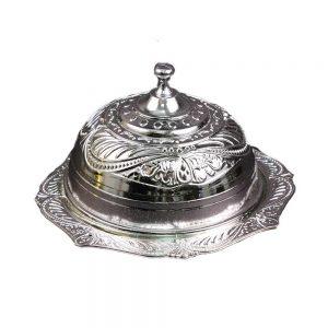 """טאג'ין פלסטי (מכסה פעמון) ק.כ.20 ג.13 ס""""מ-כסף"""