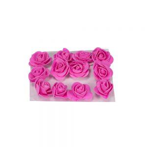 """חבילת 12 ראשי ורד פתוח ספוגי 4 ס""""מ-פושי'ה"""