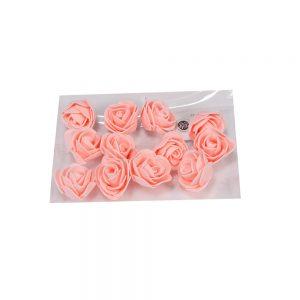 """חבילת 12 ראשי ורד פתוח ספוגי 4 ס""""מ-אפרסק"""