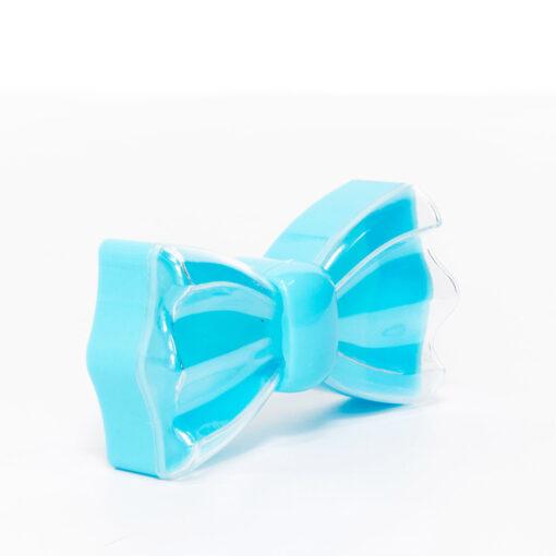 """קופסא פלסטי בצורת פפיון 11/5.5 ג.3 ס""""מ-תכלת"""