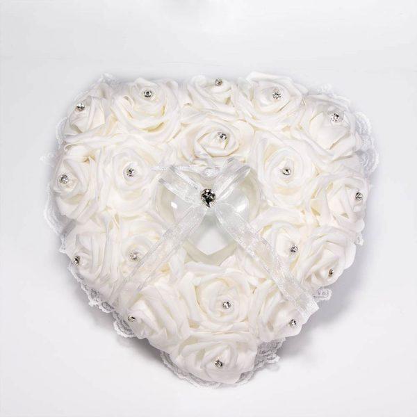 """קופסא לטבעות לב ורדים/יהלומים 25 ס""""מ"""