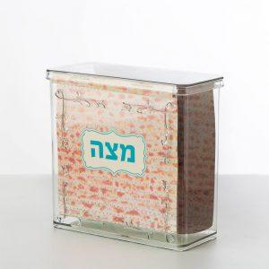 """קופסא פלסטיק למצות 20.5/20/9 ס""""מ"""