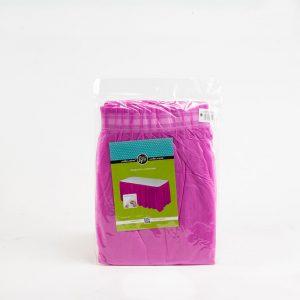 """חצאית פלסטי לשולחן ר.73 א.426 ס""""מ-ורוד"""