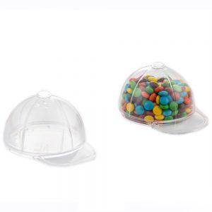 """כלי פלסטי בצורת כובע מצחיה ק.7.5 ג.5 ס""""מ-שקוף"""