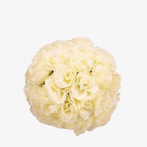 """כדור ורדים ק.30 ס""""מ-קרם"""