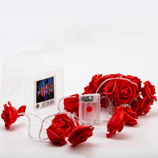 שרשרת לדים א.3 מטר-ורדים-אדום