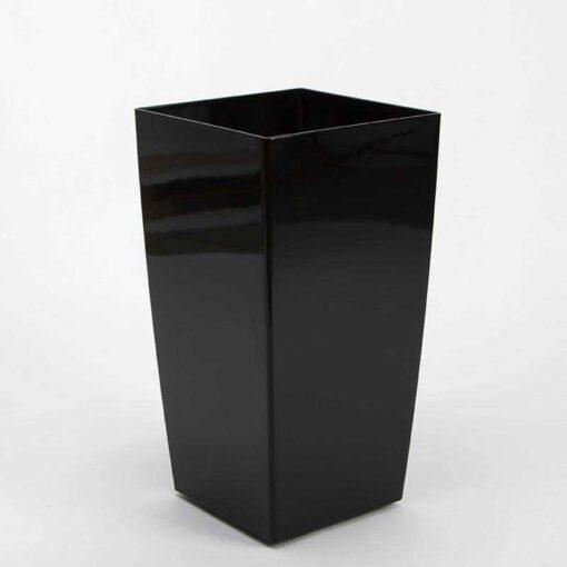 """עציץ פלסטי מרובע ר.30 ג.57 ס""""מ-שחור"""