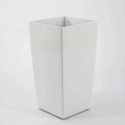 """עציץ פלסטי מרובע ר.30 ג.57 ס""""מ-לבן"""
