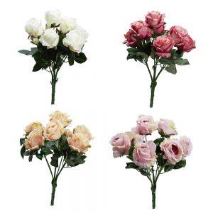 זר ורד פתוח ג'מבו 7X מעורב