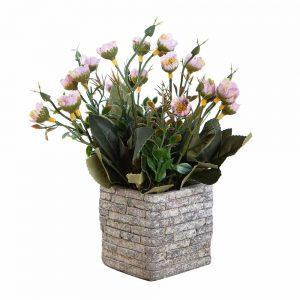 """שיח ניצני פרחים בעציץ קרמי ג.20 ס""""מ-לילך"""