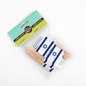 חבילת 24 דיגלונים לקאפקייק-דגל ישראל