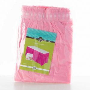 """חצאית פלסטי לשולחן ר.73 א.426 ס""""מ-ורוד ביבי"""
