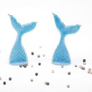 """כלי פלסטיק בצורת זנב דג 11 ס""""מ-תכלת"""