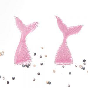 """כלי פלסטיק בצורת זנב דג 11 ס""""מ-ורוד"""