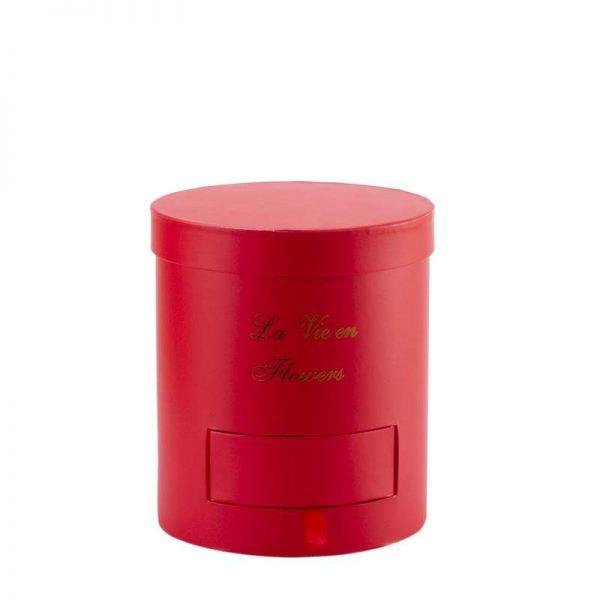 """קופסאת קרטון+פיויסי ק.18 ג.20 ס""""מ+מגירה-אדום"""