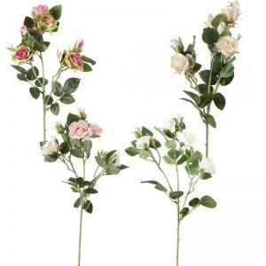 ענף ורדים פתוח+סגור 3X  מעורב 4 צבעים
