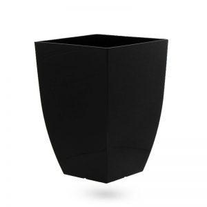 """עציץ פלסטי מרובע 34/34 ג.48 ס""""מ-שחור"""