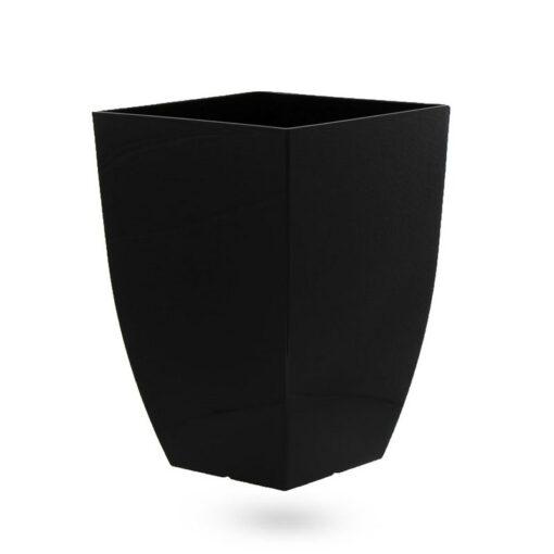 """עציץ פלסטי מרובע 29/29 ג.42 ס""""מ-לבן"""