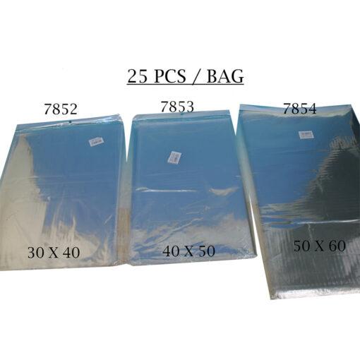 """חבילת 25 יחידות שקית צלופן-50/60 ס""""מ"""