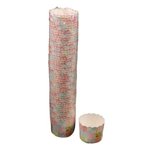 """חבילת 50 עטרות קרטון לאפיה 7/5.5 ס""""מ-משבצות מיקס"""