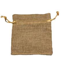 """חבילת 10 שקית יוטה טבעי 8/10.5 ס""""מ"""