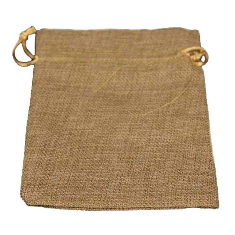 """חבילת 10 שקית יוטה טבעי 9/13 ס""""מ"""