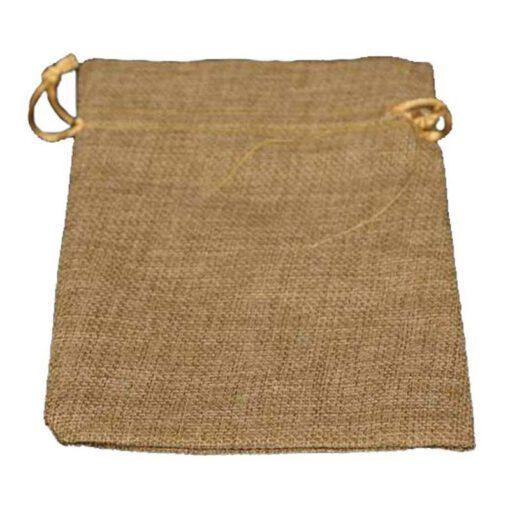 """חבילת 10 שקית יוטה טבעי 12.5/17 ס""""מ"""