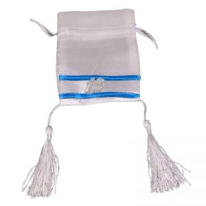 """חבילת 10 שקית בד סאטן 10/13 ס""""מ-בר מצוה 13"""