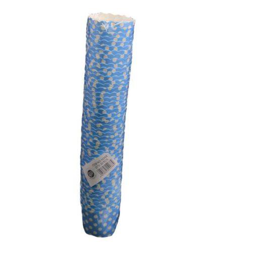 """חבילת 50 עטרות קרטון לאפיה 6/4.6 ס""""מ-תכלת מנוקד"""