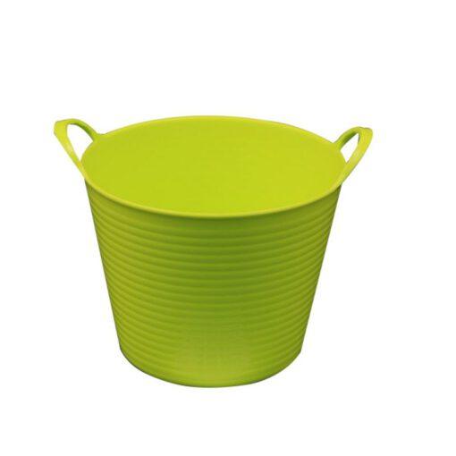 """דלי פלסטיק 2 ידיות ק.14.5 ג.11.5 ס""""מ-ירוק"""
