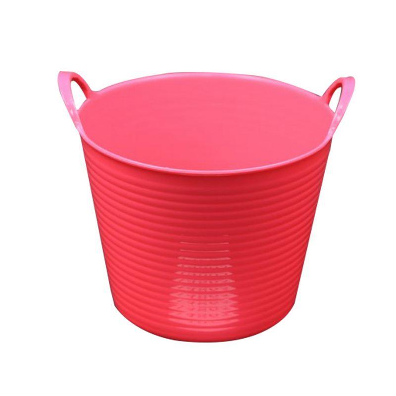 """דלי פלסטיק 2 ידיות ק.14.5 ג.11.5 ס""""מ-פושי'ה"""