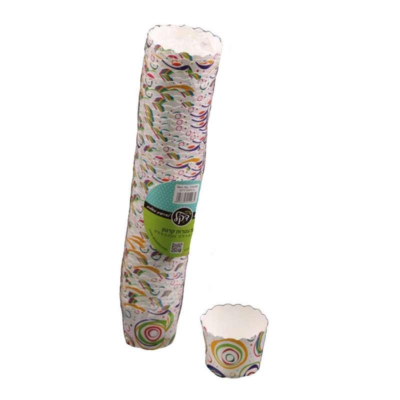 """חבילת 50 עטרות קרטון לאפיה 6/4.6 ס""""מ-עיגולים"""