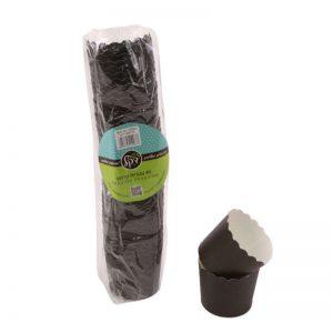 """חבילת 40 עטרות קרטון לאפיה 6/4.6 ס""""מ-שחור"""