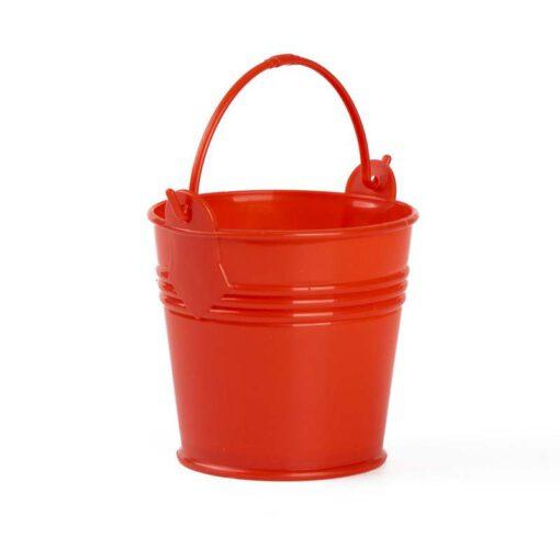 """דלי פלסטי ק.10 ג.9.5 ס""""מ-אדום"""