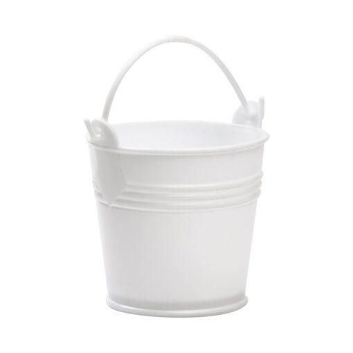 """דלי פלסטי ק.12.5 ג.11.5 ס""""מ-לבן"""