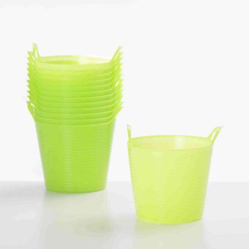 """דלי פלסטי 2 ידיות ק.10 ג.8.5 ס""""מ-ירוק"""