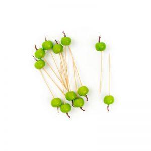 """חבילת 12 קיסם תפוח ירוק ק.2.5 ס""""מ"""