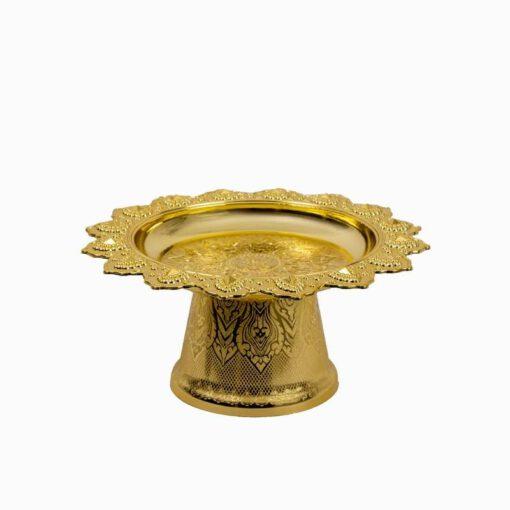 """סטנד לעוגה ק.36 ג.16 ס""""מ-זהב"""