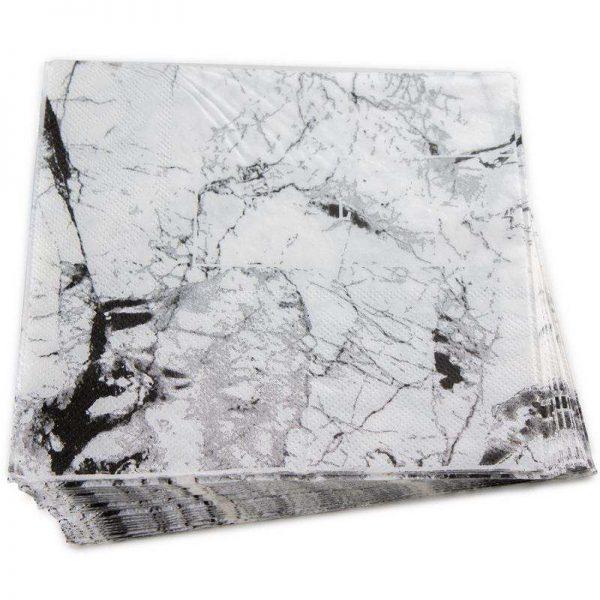 חבילת 20 מפיות נייר 33/33 (2/ש)-שחור שיש