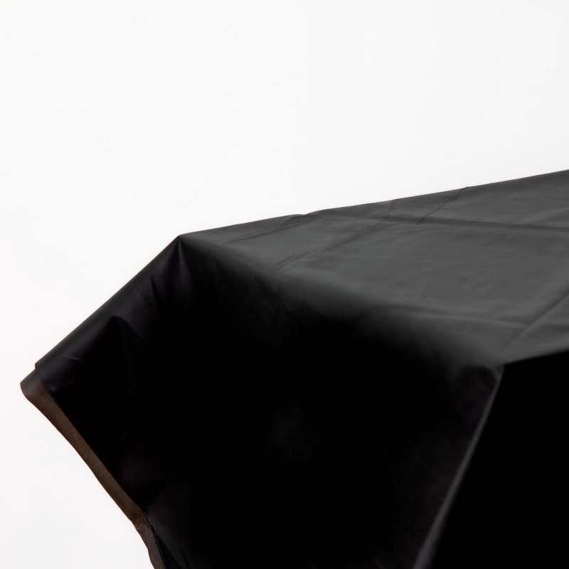 """חצאית פלסטי לשולחן ר.73 א.426 ס""""מ-שחור"""