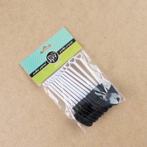 סט 6 עציץ פלסטי+תחתית+את חפירה-חום