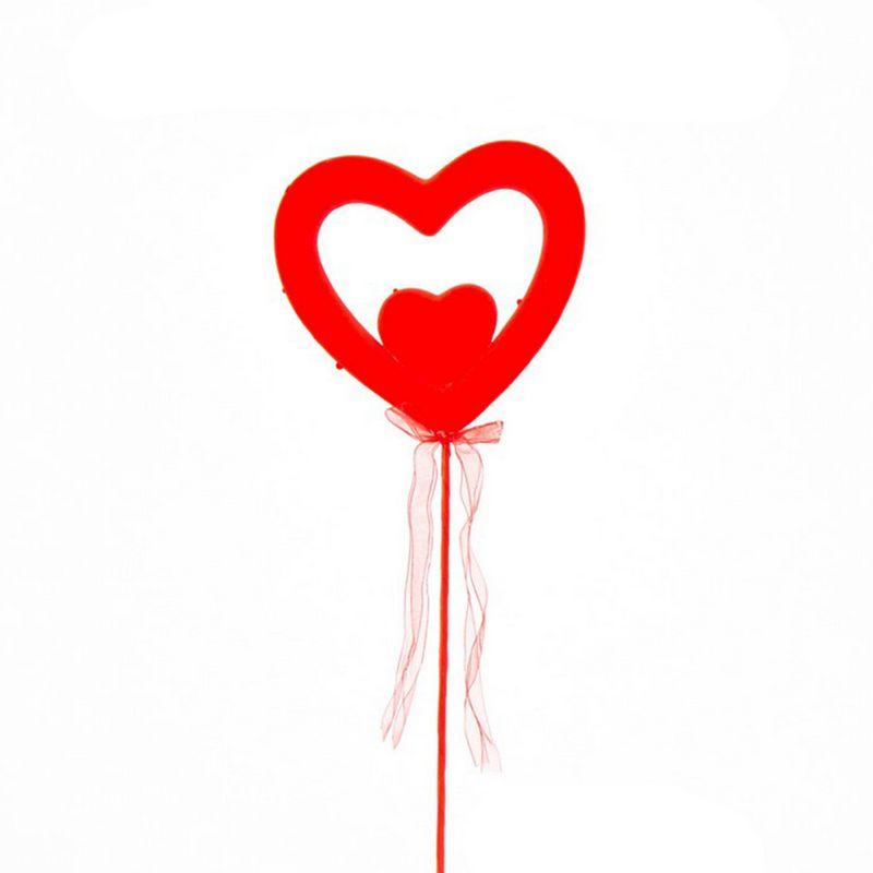 """מקל+ לב קלקר ר.16 ג. 40 ס""""מ-אדום"""